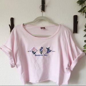 Baby pink crop top